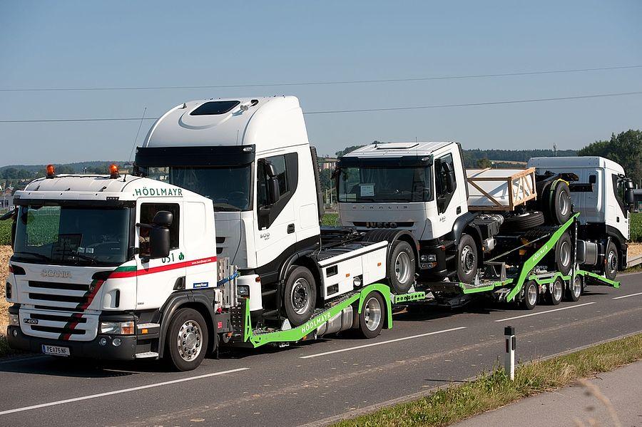 Transport von Industriefahrzeugen nach Deutschland